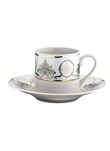 Kütahya Porselen Rüya 7736 Desen Kahve Fincan Takımı Renkli